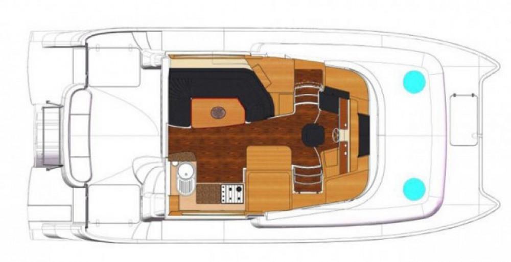 Motorboot mieten in La Trinité-sur-Mer - Fountaine Pajot Summerland 40