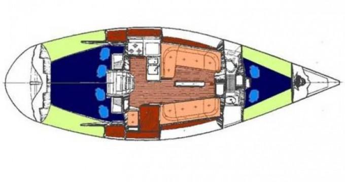 Bootsverleih Siouville-Hague günstig First 345