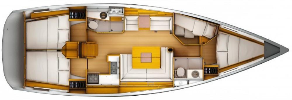 Jeanneau Sun Odyssey 439 Q zwischen Privatpersonen und professionellem Anbieter Arzon