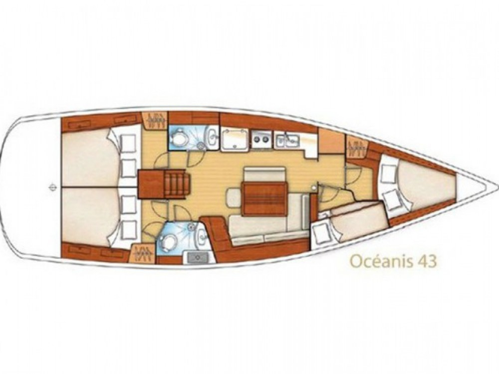 Segelboot mieten in Biograd na Moru - Bénéteau Oceanis 43