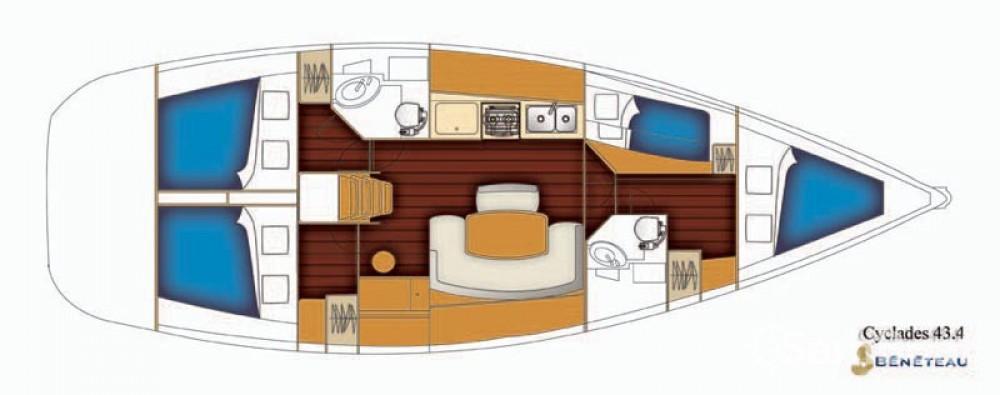Yacht-Charter in Trau - Bénéteau Cyclades 43 auf SamBoat
