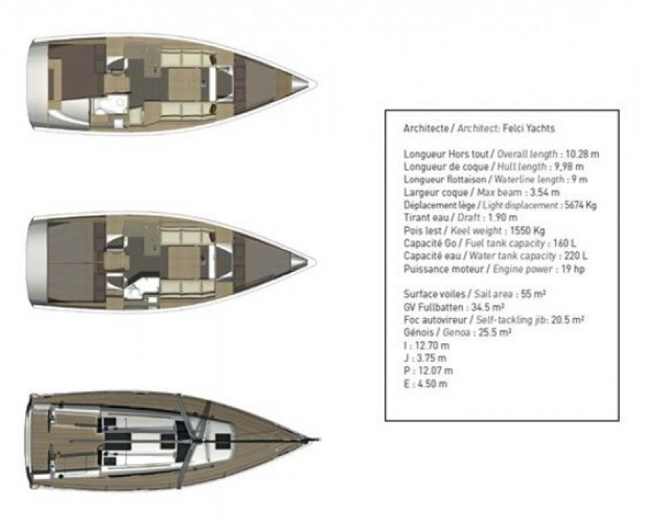 Yacht-Charter in Arzon - Dufour Dufour 360 Grand Large auf SamBoat