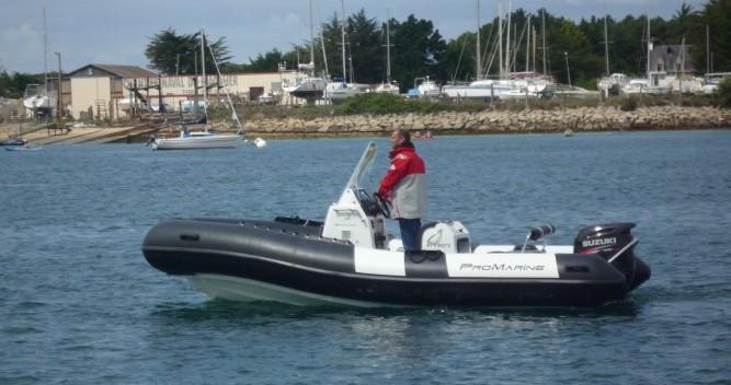 Vermietung Schlauchboot Pro Marine mit Führerschein