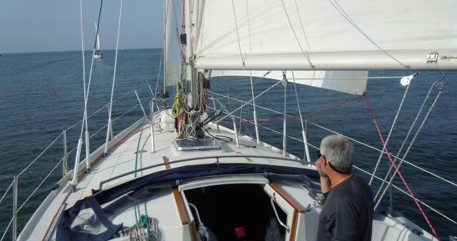 Jeanneau Gin Fizz gréé en sloop zwischen Privatpersonen und professionellem Anbieter Port du Crouesty