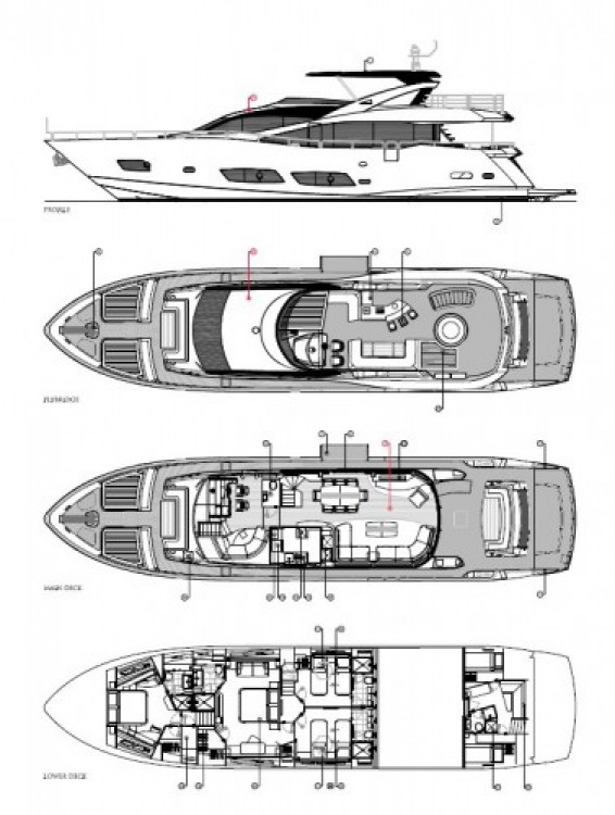 "Yacht-Charter in Saint-Tropez - Sunseeker 28.15 metres (92' 4"") auf SamBoat"