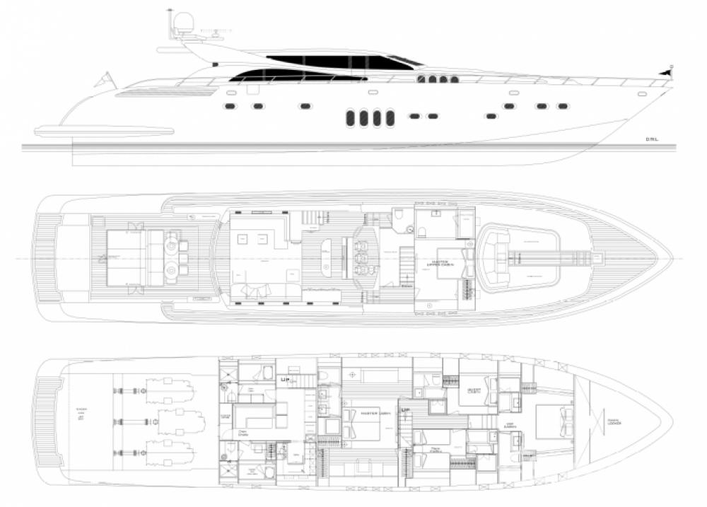 """Andrea-Bacigalupo 34.11 metres (111' 11"""") zwischen Privatpersonen und professionellem Anbieter Cannes"""