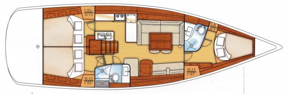 Ein Bénéteau Oceanis 46 mieten in Morlaix