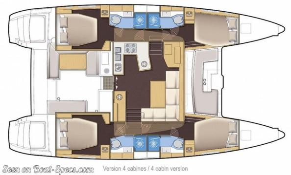 Lagoon Lagoon 450 F zwischen Privatpersonen und professionellem Anbieter Le Marin