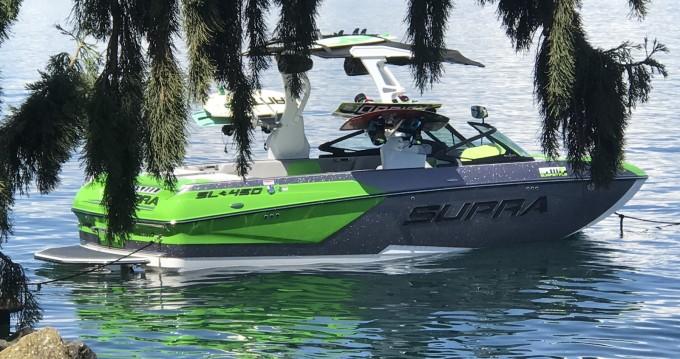 Vermietung Motorboot Supra mit Führerschein