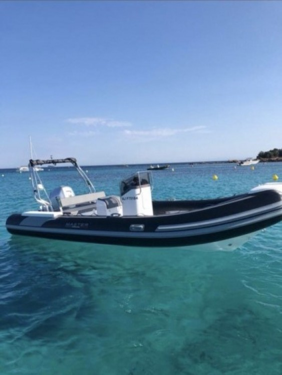 Vermietung Schlauchboot Master Gommoni mit Führerschein