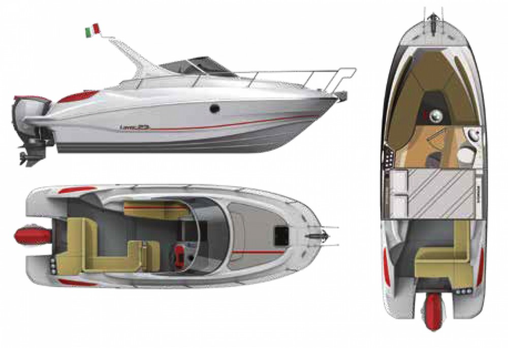 Motorboot mieten in Alaior - Salpa Laver 23X