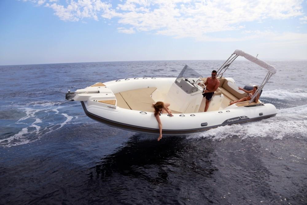 Vermietung Schlauchboot Capelli mit Führerschein