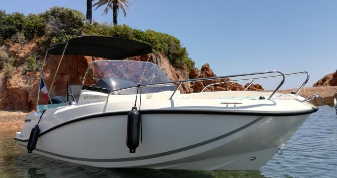 Bootsverleih Mandelieu-la-Napoule günstig Quicksilver 605 Sundeck