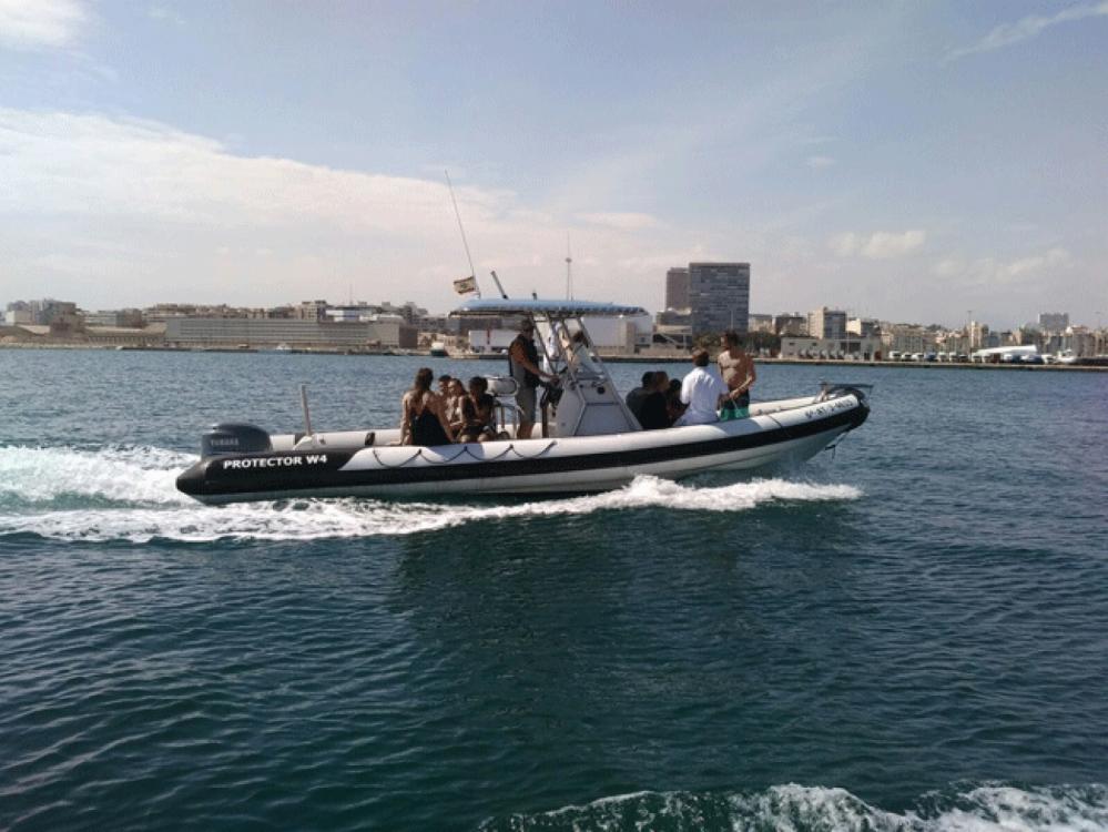 Vermietung Schlauchboot Rayglass mit Führerschein