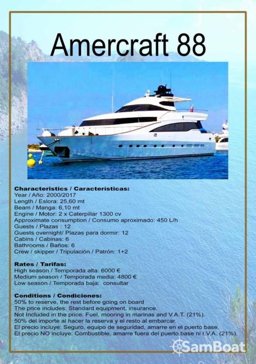 Vermietung Yachten AMER mit Führerschein