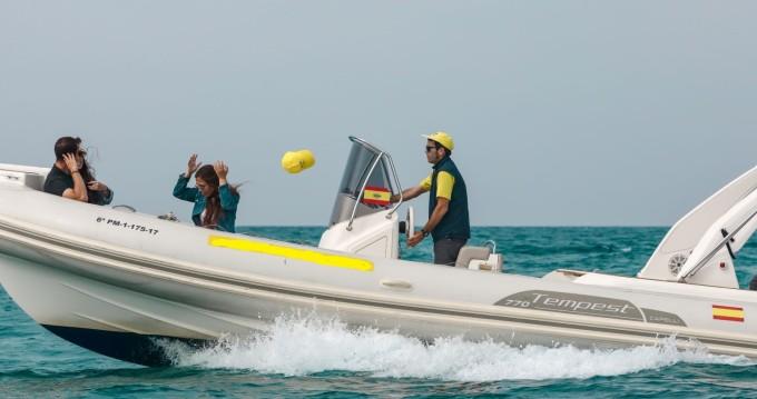 Schlauchboot mit oder ohne Skipper Capelli mieten in Palma de Mallorca