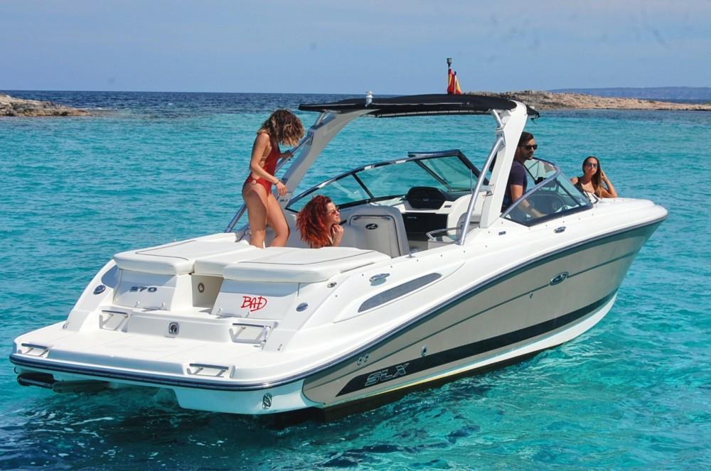 Motorboot mit oder ohne Skipper Sea Ray mieten in Ibiza-Stadt