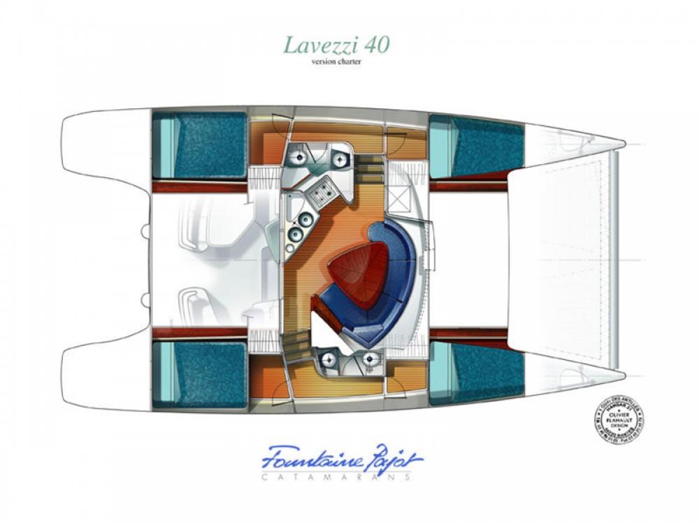Vermietung Katamaran Fountaine Pajot mit Führerschein