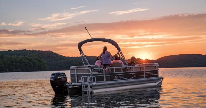 Ein Sun Tracker Party Barge 22 DLX mieten in Porto