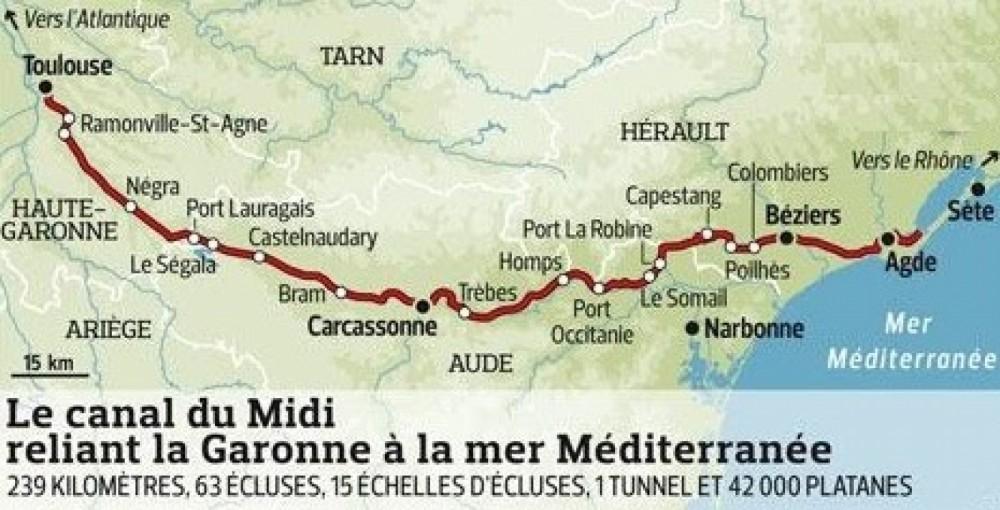 Peniche canal du midi zwischen Privatpersonen und professionellem Anbieter Carcassonne