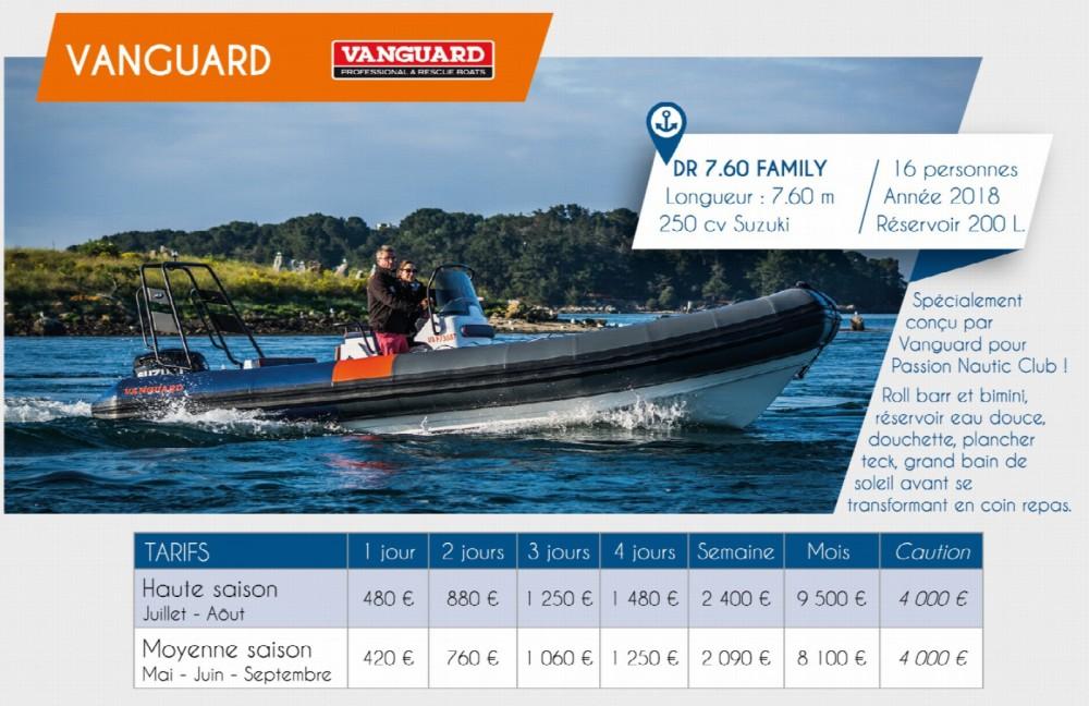 Schlauchboot mit oder ohne Skipper Vanguard Marine mieten in Arzon
