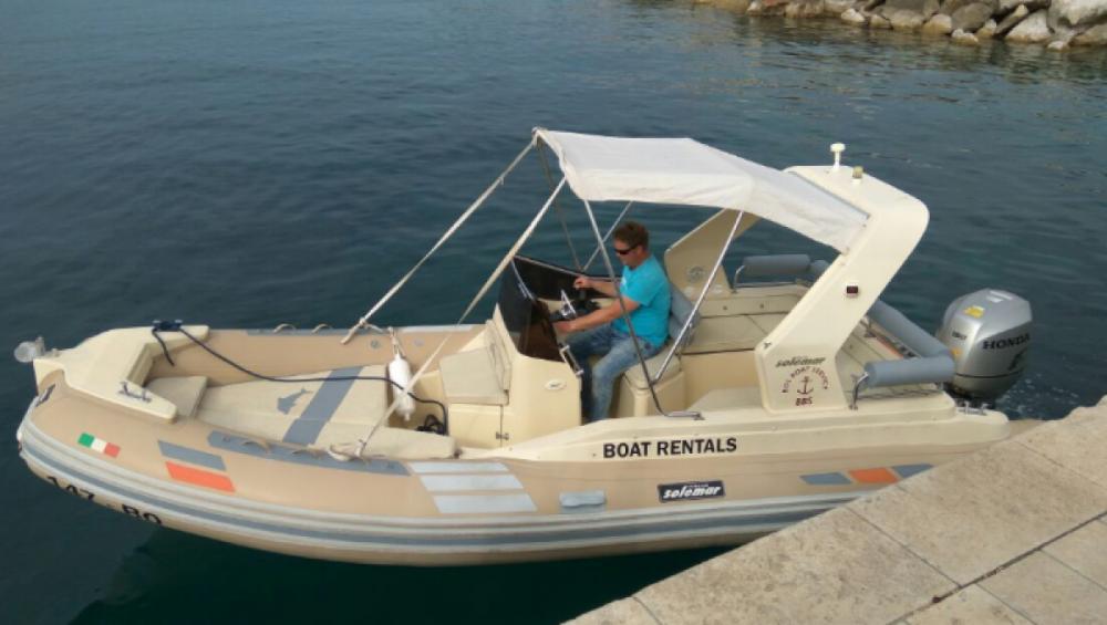 Vermietung Schlauchboot Solemar mit Führerschein
