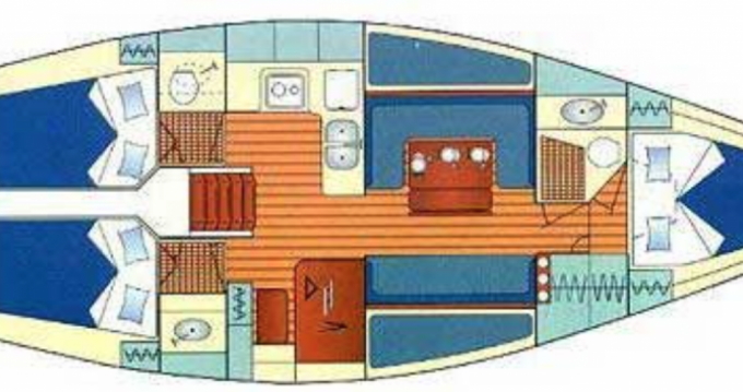 Bootsverleih Jeanneau Sun Legend 41 Hendaye Samboat