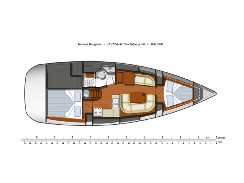 Segelboot mieten in Marmaris - Jeanneau Sun Odyssey 36i