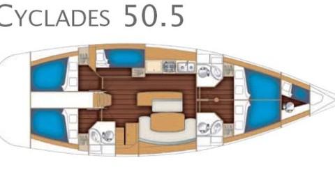 Bootsverleih Göteborg günstig Cyclades 50.5