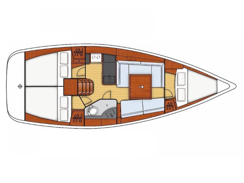 Segelboot mieten in Općina Sukošan - Bénéteau Oceanis 34