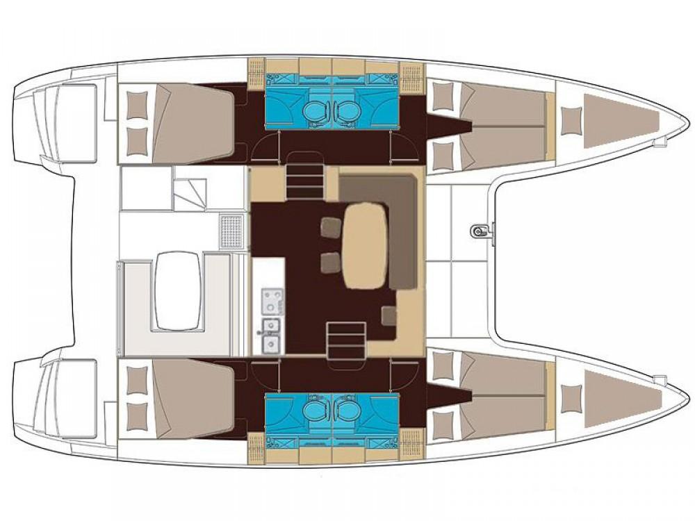 Lagoon Lagoon 400 S2 zwischen Privatpersonen und professionellem Anbieter Capo d'Orlando