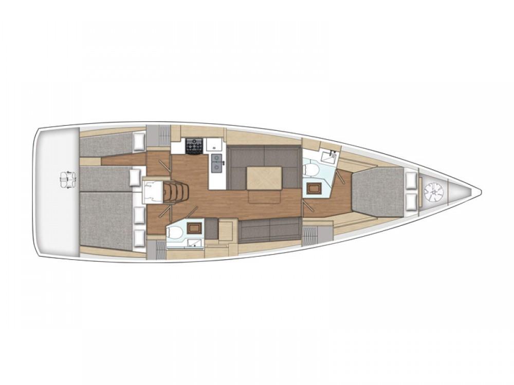 Ein X-Yachts X4-6 model 2019 mieten in Olympic Marina