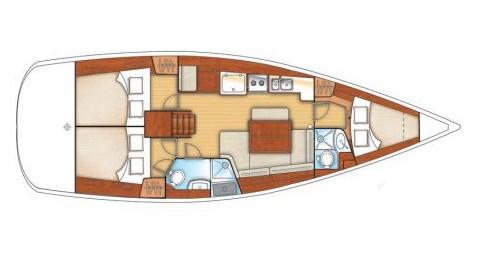 Segelboot mieten in Athen - Bénéteau Oceanis 40