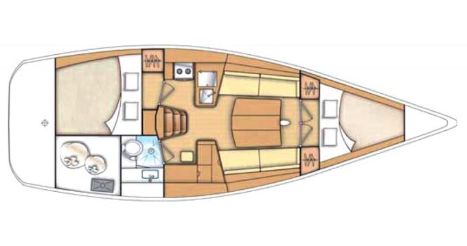 Bénéteau First 35 zwischen Privatpersonen und professionellem Anbieter Marina di Portisco