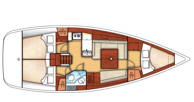 Bootsverleih Bénéteau Oceanis 37 Marina di Portisco Samboat
