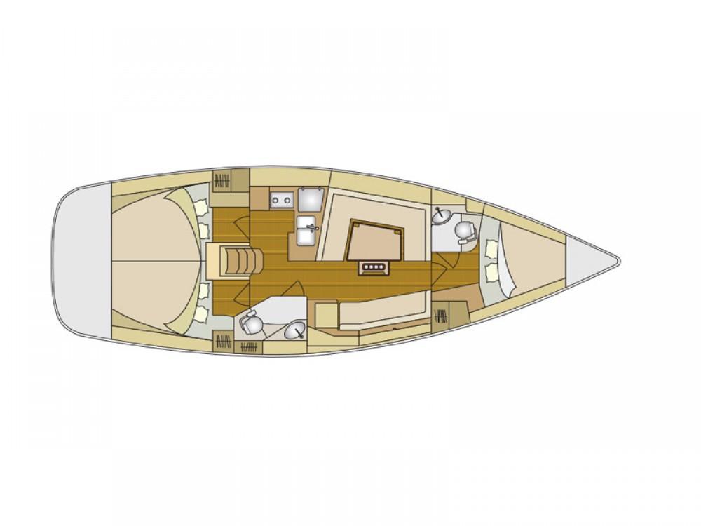 Bootsverleih Šibenik günstig Elan 394 Impression