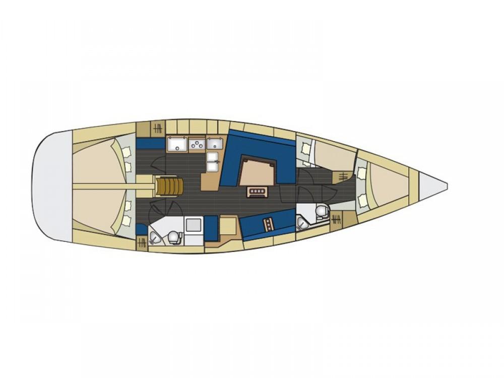 Bootsverleih Šibenik günstig Elan 444 Impression