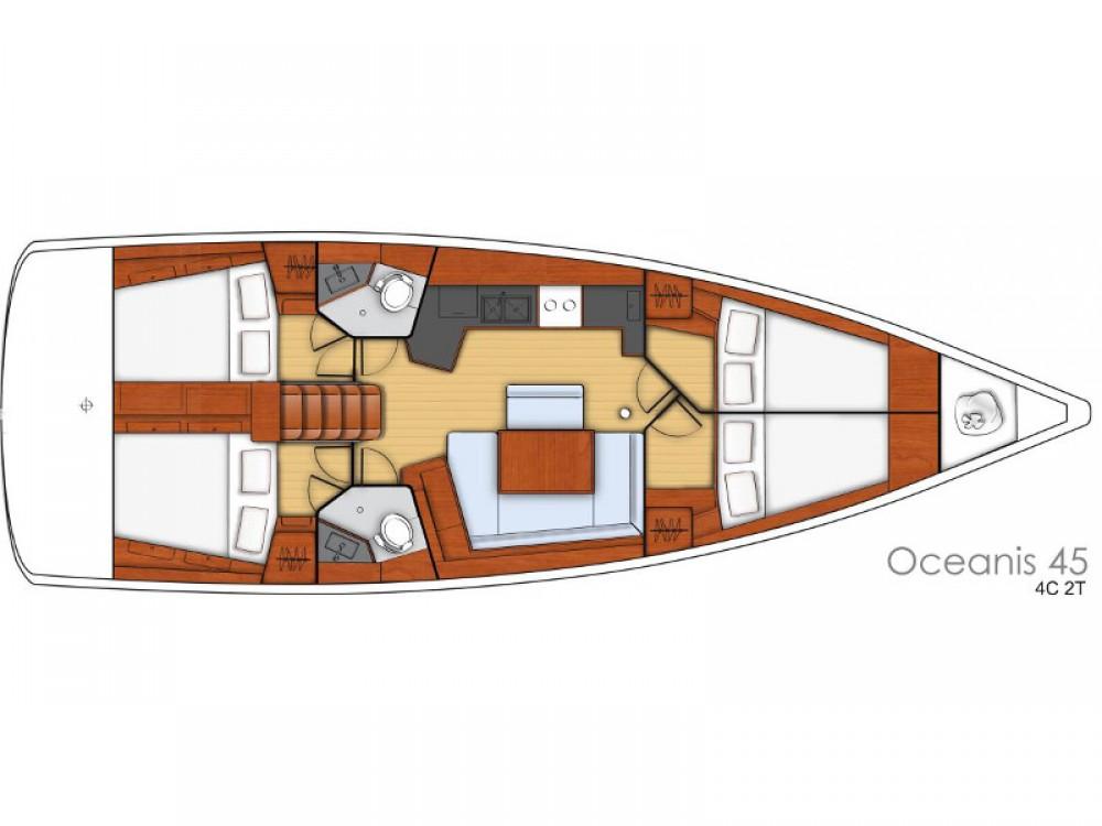 Bénéteau Oceanis 45 zwischen Privatpersonen und professionellem Anbieter Šibenik