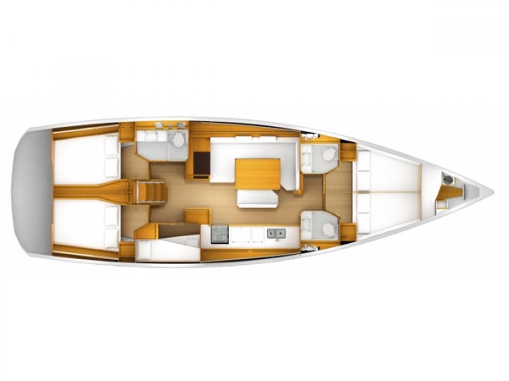 Jeanneau Sun Odyssey 509 zwischen Privatpersonen und professionellem Anbieter Palma