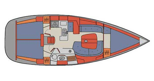 Segelboot mieten in Palma de Mallorca - Bénéteau Oceanis 361