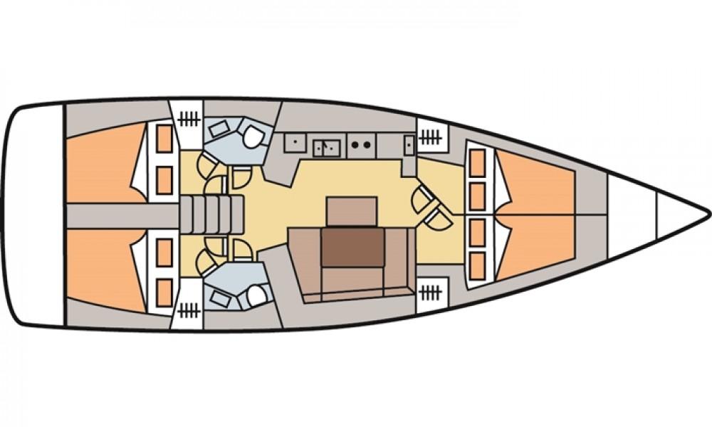 Ein Bénéteau Oceanis 45 (4 cabins) mieten in Marmaris