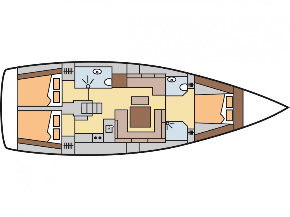 Segelboot mit oder ohne Skipper Hanse mieten in Fethiye