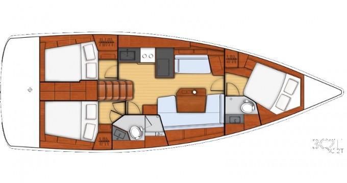 Segelboot mieten in Athen - Bénéteau Beneteau - Oceanis 41.1