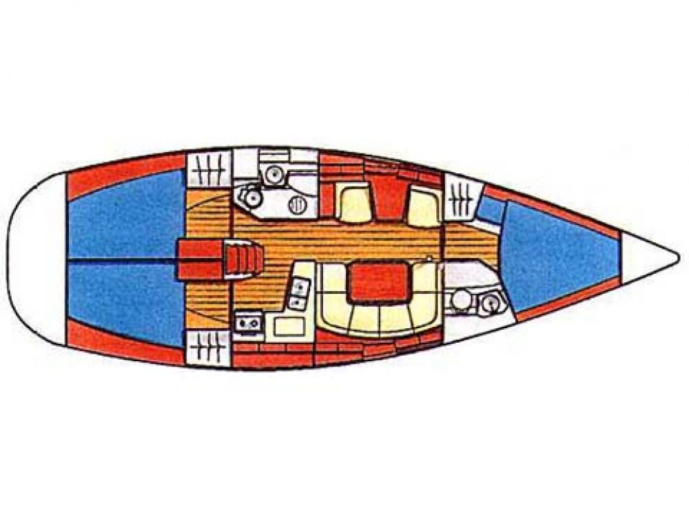 Jeanneau Sun Odyssey 419 zwischen Privatpersonen und professionellem Anbieter Fethiye