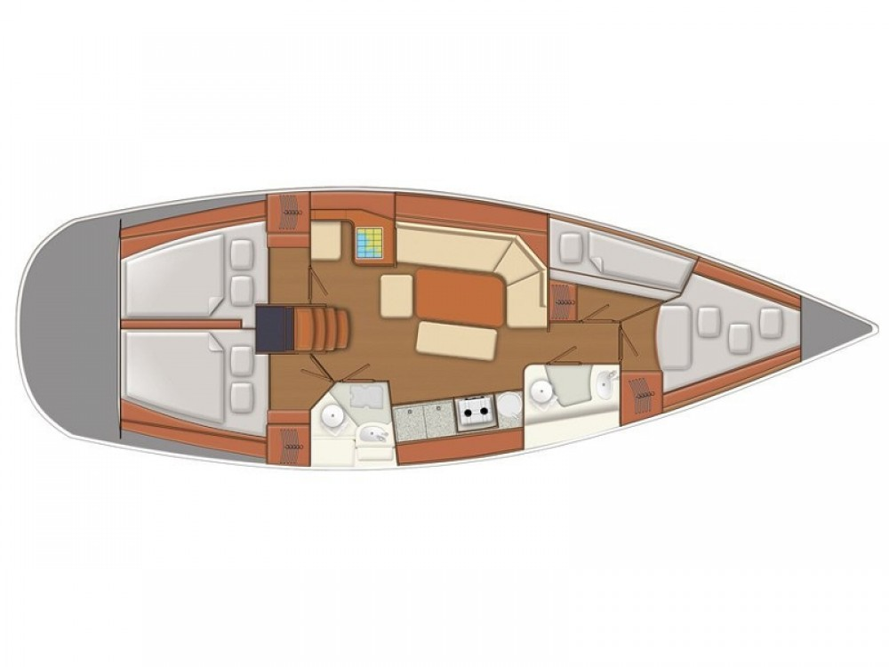Vermietung Segelboot Delphia mit Führerschein