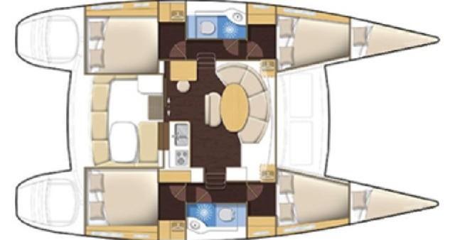 Bootsverleih Gouviá günstig Lagoon 380