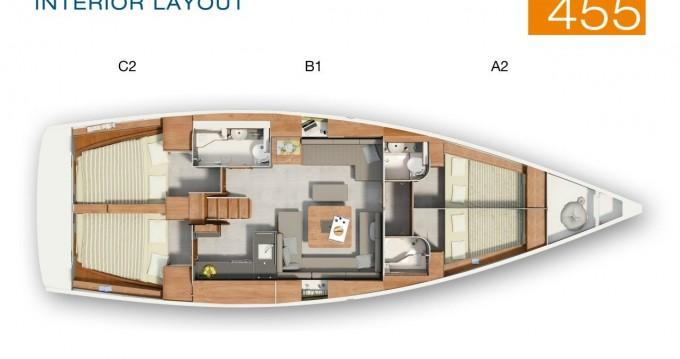 Segelboot mieten in Lávrio - Hanse Hanse 455