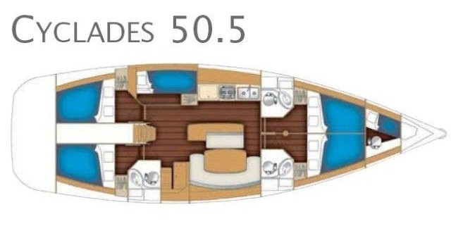 Yacht-Charter in Marina di Portorosa - Bénéteau Cyclades 50.5 auf SamBoat