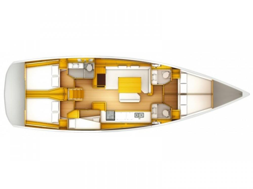 Jeanneau Sun Odyssey 519 zwischen Privatpersonen und professionellem Anbieter Palmeira