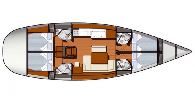 Yacht-Charter in Sukošan - Jeanneau Sun Odyssey 49i auf SamBoat